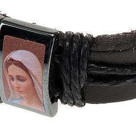 Bracelet, images, cuir, hématite s2