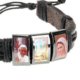 Bracelet, images, cuir, hématite s4