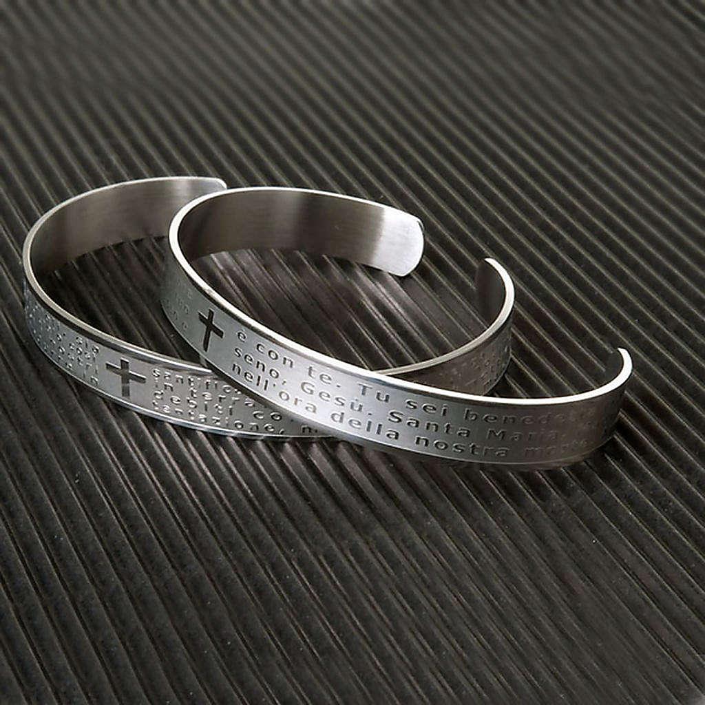 Armband mit graviertem Gebet aus INOX-Stahl 4