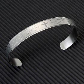 Armband mit graviertem Gebet aus INOX-Stahl s2