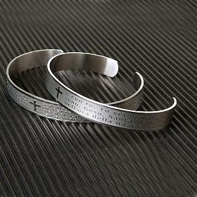 Armband mit graviertem Gebet aus INOX-Stahl s3