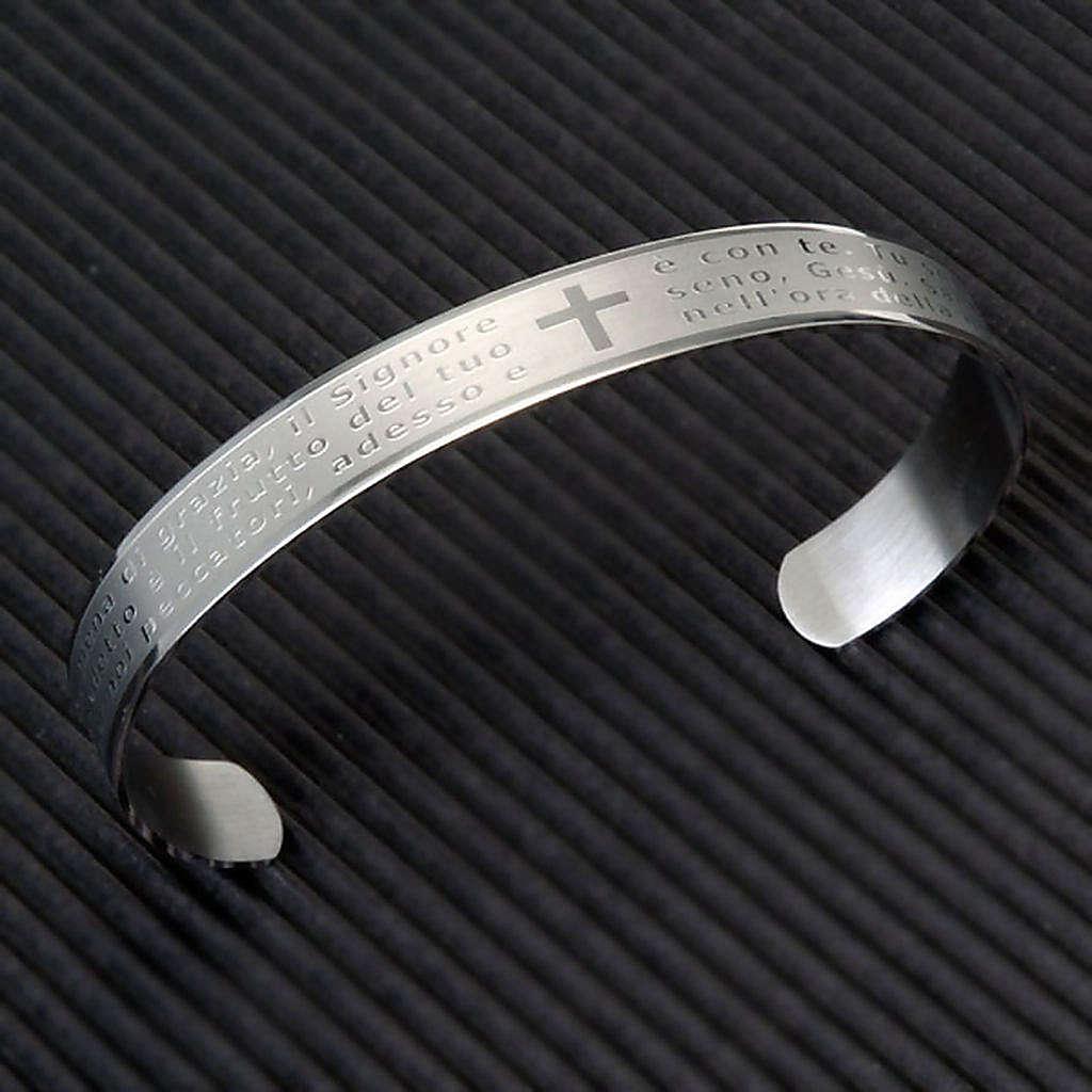 Bracelet prière, inox 4