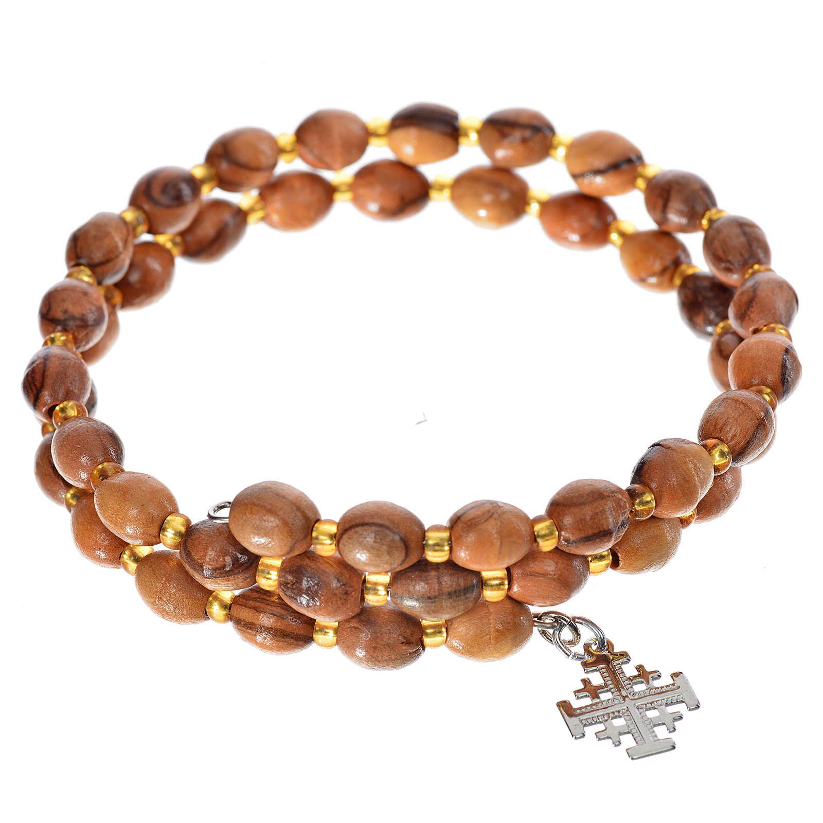 Bracelet avec ressort, bois d'olivier 4