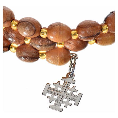 Bracciale rosario a molla in olivo 2