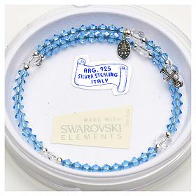 Spiral bracelet in sterling silver and steel with Swarovski s4
