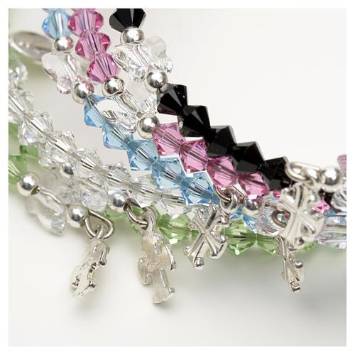 Spiral bracelet in sterling silver and steel with Swarovski 2