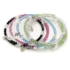 Spiral bracelet in sterling silver and steel with Swarovski s1