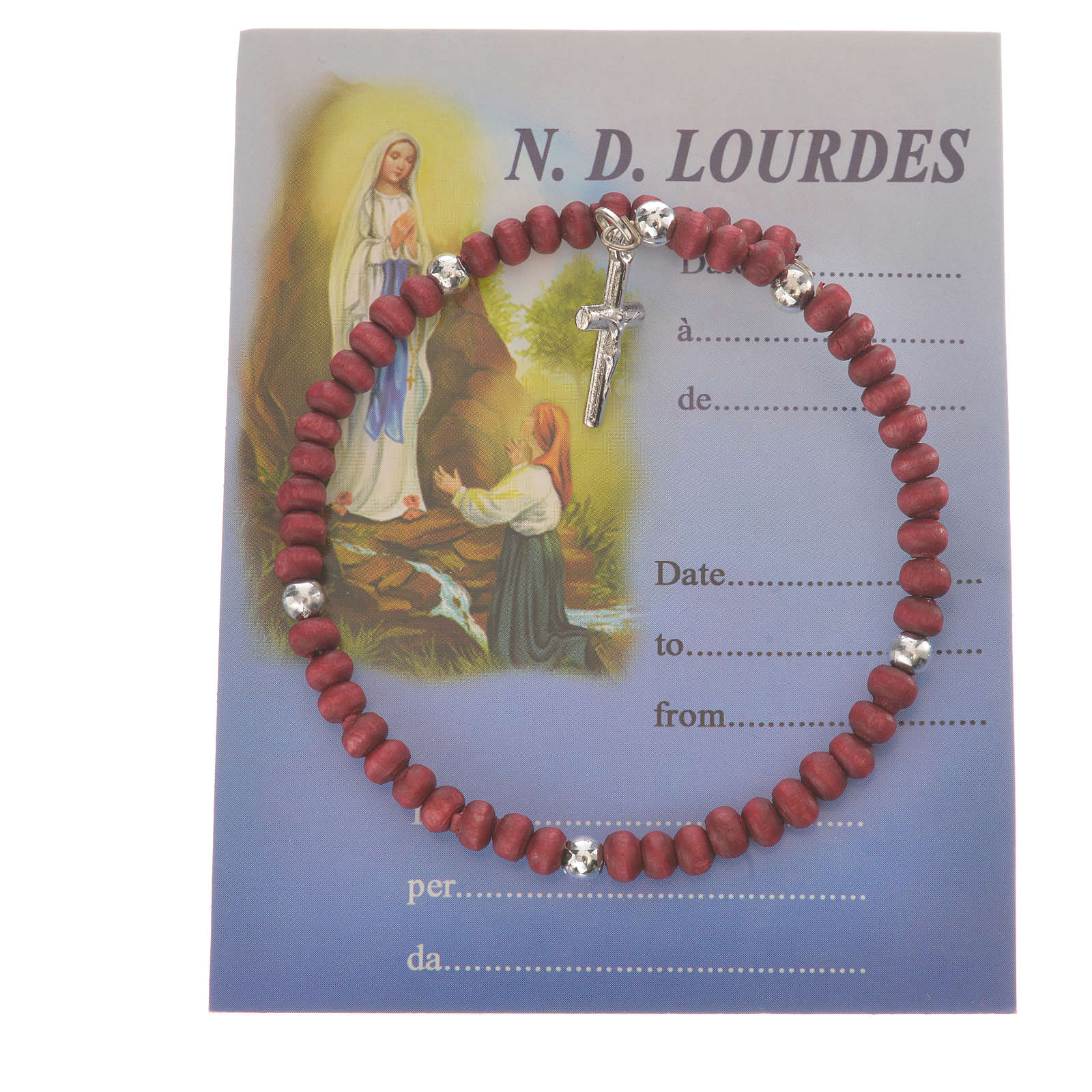 Ten-beads Rosary Bracelet perfumed wood 4mm 4