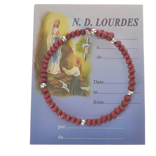 Ten-beads Rosary Bracelet perfumed wood 4mm 1
