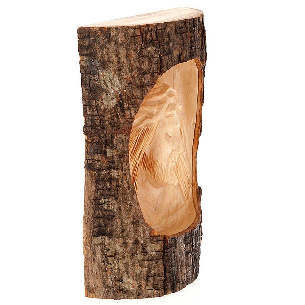 Bassorilievo legno Volto di Cristo occhi chiusi 4