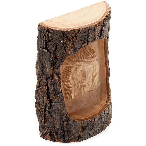 Flachrelief Christis Gesicht aus Holz 2