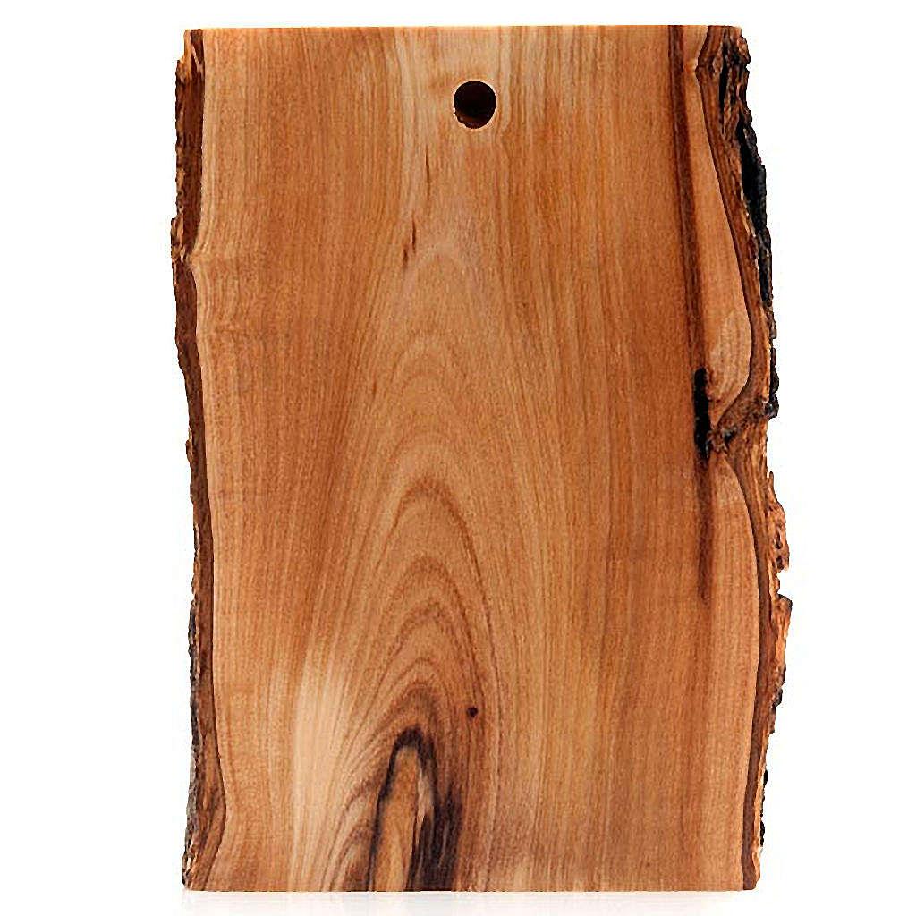 Bas relief en bois, visage du Christ, les yeux ouverts 4