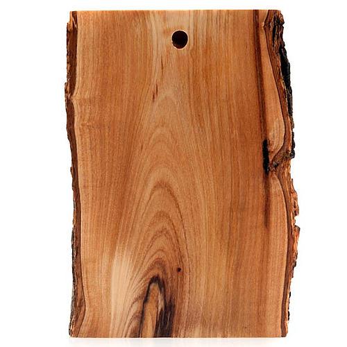 Bas relief en bois, visage du Christ, les yeux ouverts 3