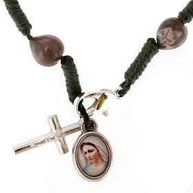 Ten-bead Medjugorje Job's tears rosary s1