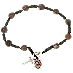 Ten-bead Medjugorje Job's tears rosary s3