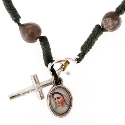 Ten-bead Medjugorje Job's tears rosary 1