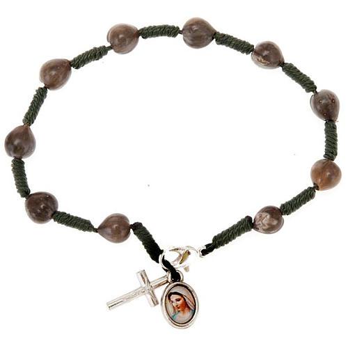 Ten-bead Medjugorje Job's tears rosary 3