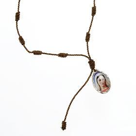 Bracciale decina corda regolabile Padre Pio - Madonna s3