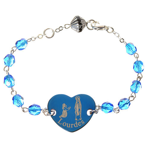 Single decade bracelet, fake crystal 6mm 1