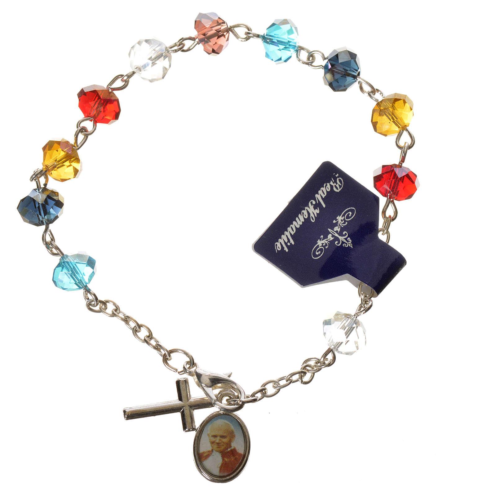 Bracelet dizainier vrai cristal 6x8mm 4