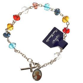 Bracelet dizainier vrai cristal 6x8mm s1