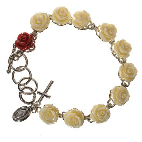 Bracciale decina rose Bianco 1