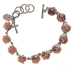 Single decade bracelet with roses s2