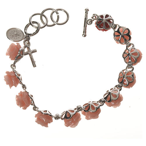 Single decade bracelet with roses 2