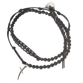Rosenkranz Armband Hematit Perlen 4mm s1
