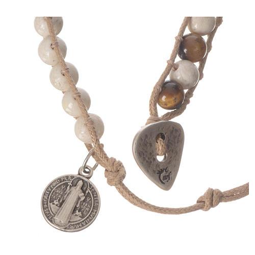 Bracelet chapelet pierre fossile 6mm 3