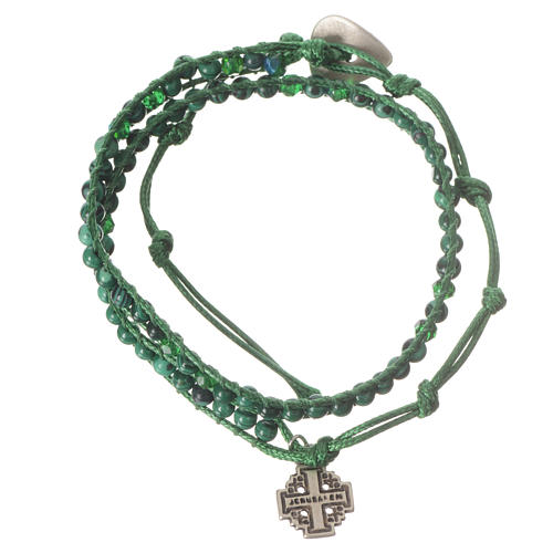 Bracciale Rosario Malachite 4 mm 1