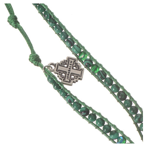 Bracciale Rosario Malachite 4 mm 2