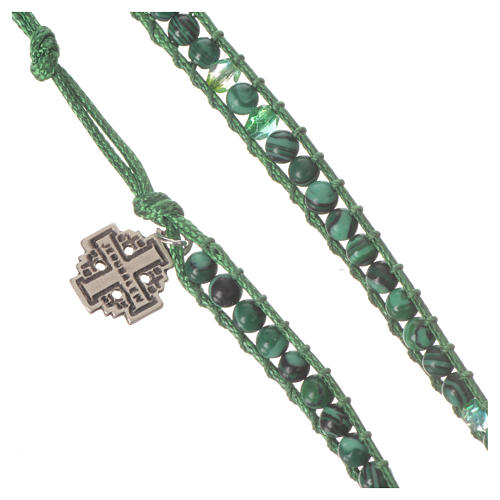 Bracelet chapelet malachite 6mm 5