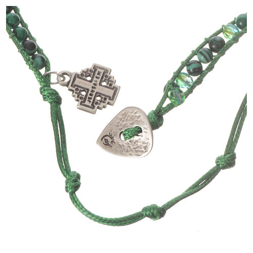 Bracelet chapelet malachite 6mm 6