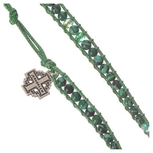 Bracelet chapelet malachite 6mm 2