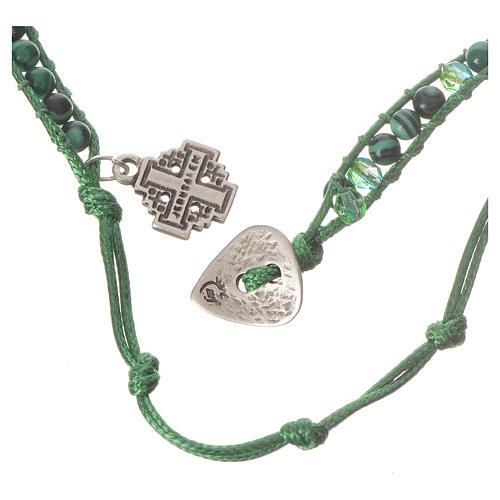 Bracelet chapelet malachite 6mm 3