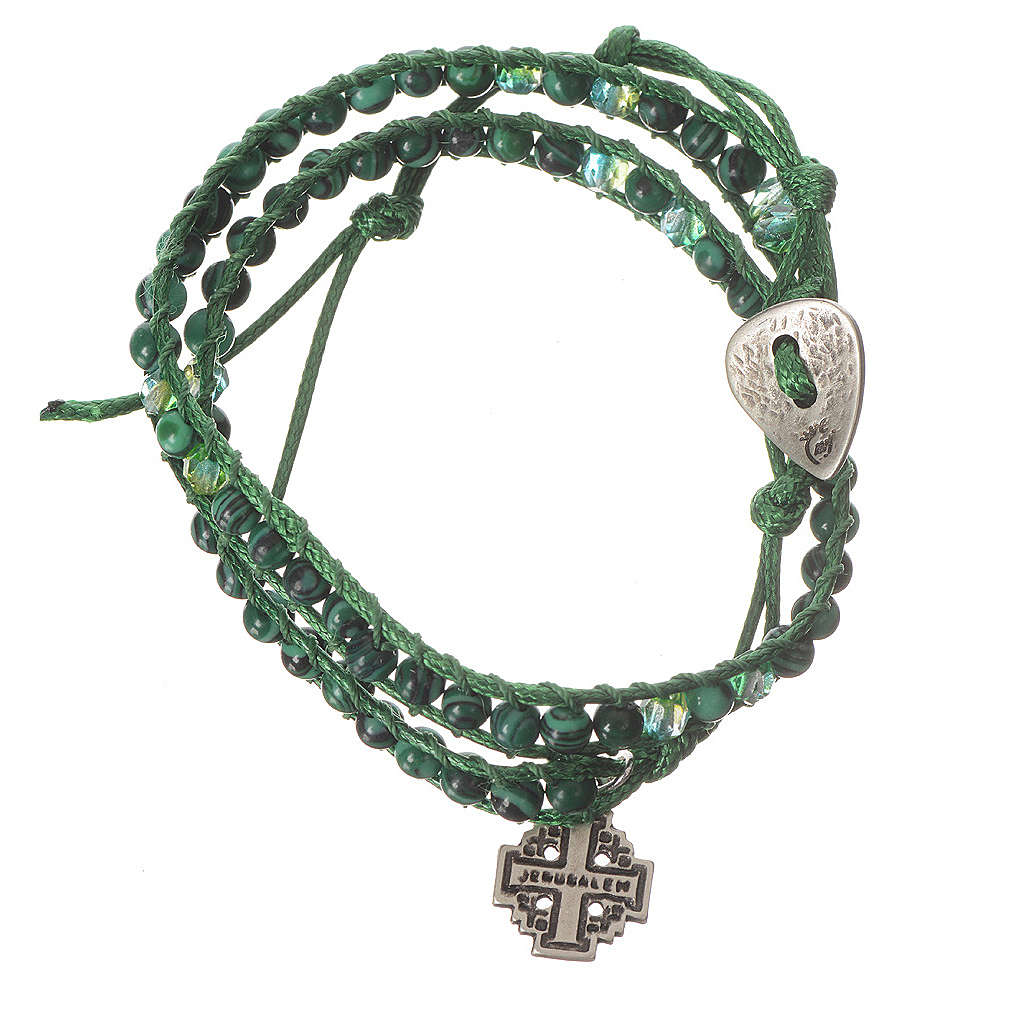 Bracciale Rosario malachite 6 mm 4