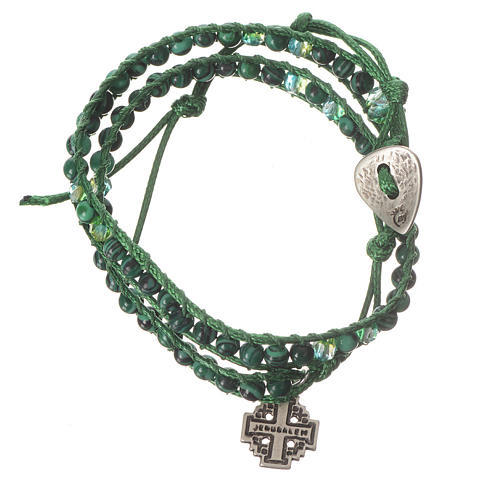 Bracciale Rosario malachite 6 mm 1
