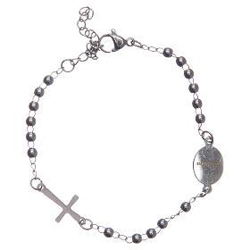 Pulsera rosario color silver acero 316L s2