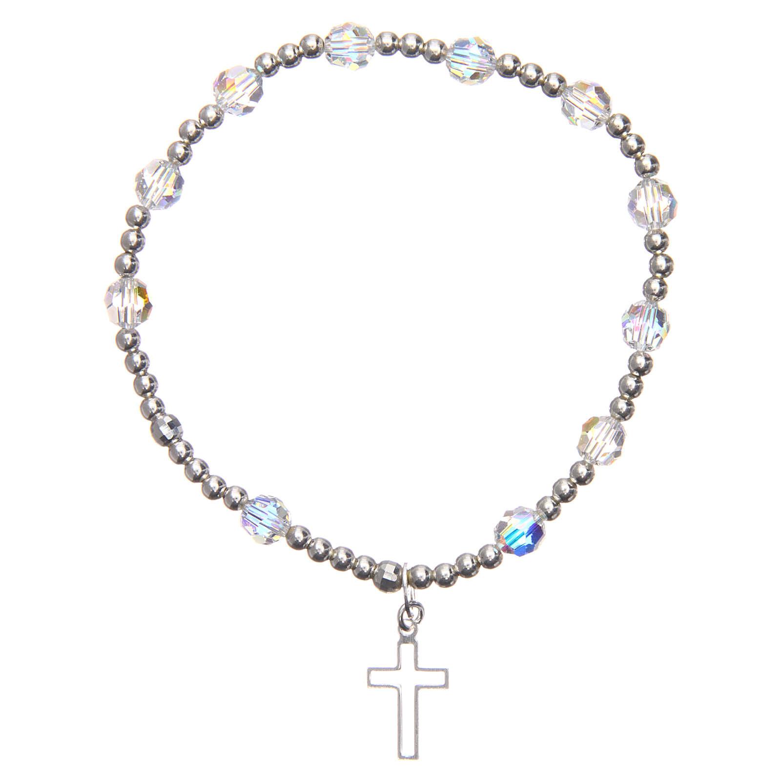 Silver bracelet Swarovski with elastic 4