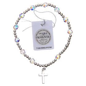 Silver bracelet Swarovski with elastic s2