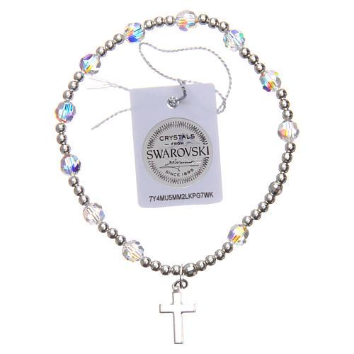 Silver bracelet Swarovski with elastic 2