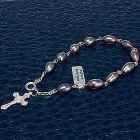 Pulsera decena plata 925 y perlas de río s3