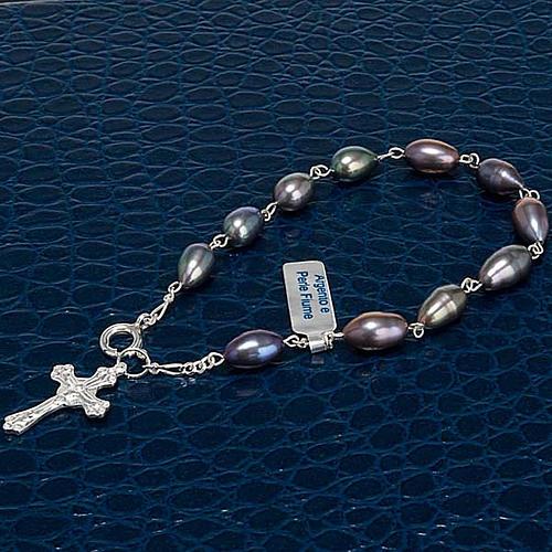 Pulsera decena plata 925 y perlas de río 3