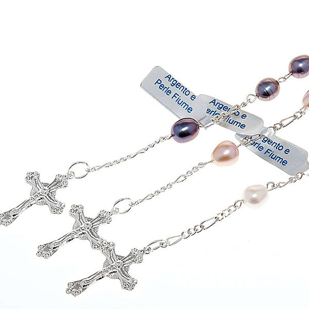 Bracelet dix grains en argent et perles d'eau douce 4