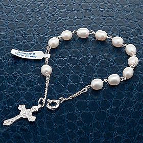 Bracelet dix grains en argent et perles d'eau douce s4
