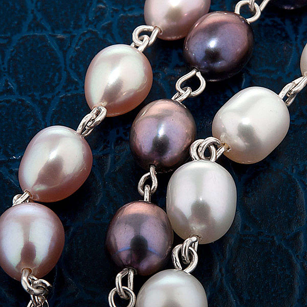 Silver decade bracelet with freshwater pearls 4