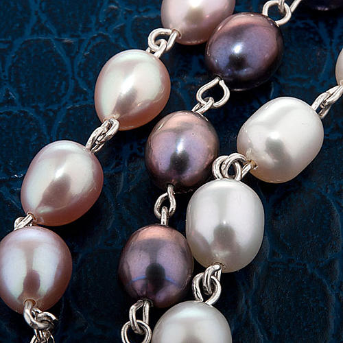 Silver decade bracelet with freshwater pearls 6