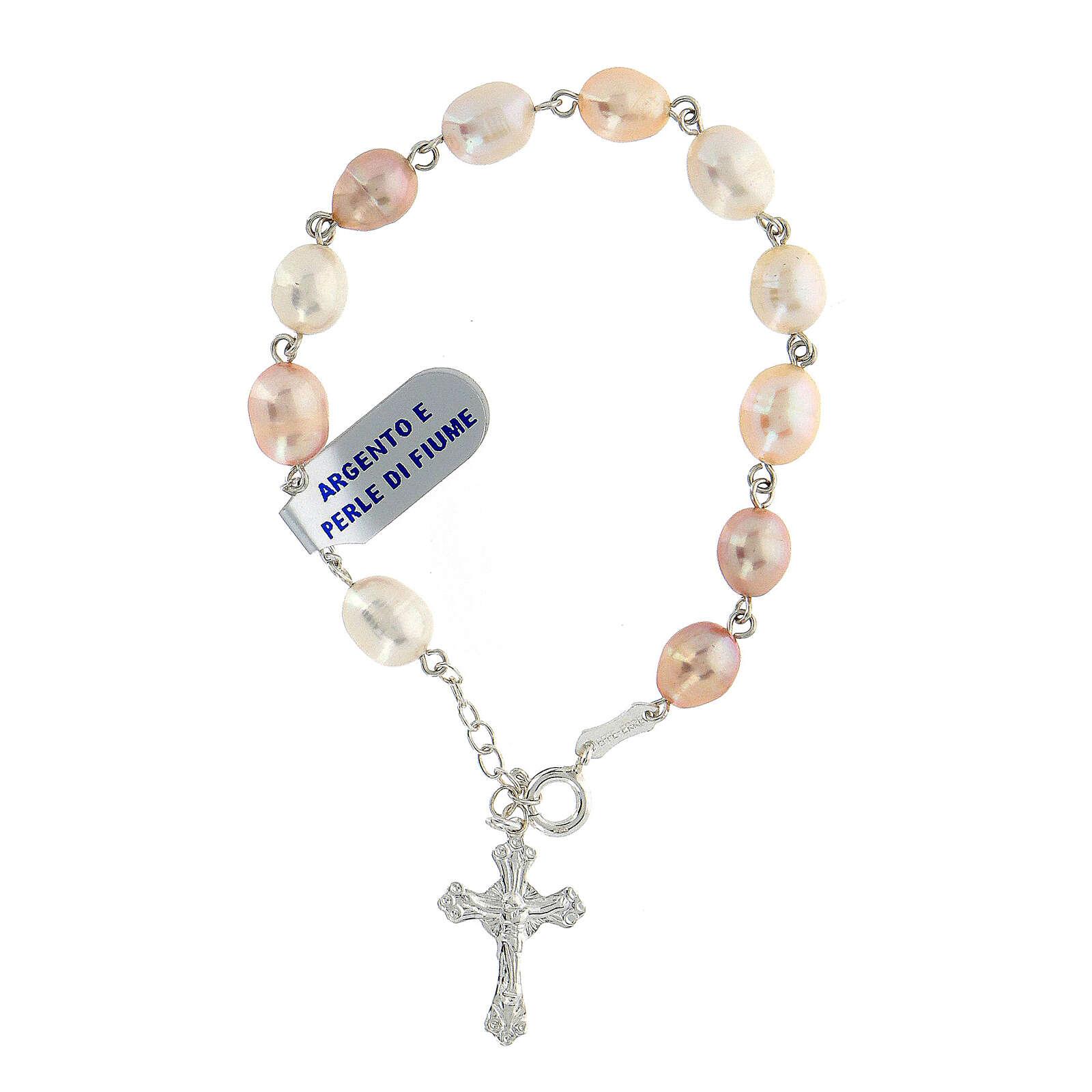 Rosenkranz-Armband Silber 925 Fluss-Perlen 4