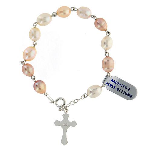 Rosenkranz-Armband Silber 925 Fluss-Perlen 2